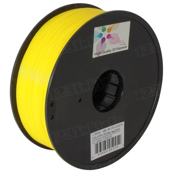 Spool of Yellow 1.75mm 1kg ABS Filament