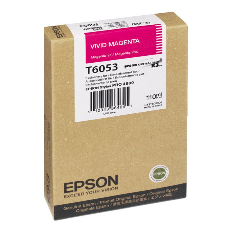 Epson T605300 Vivid Magenta OEM Ink Cartridge