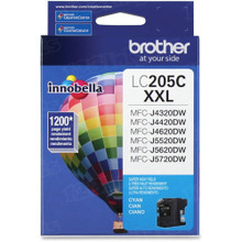 OEM LC205C for Brother Super High Yield Cyan Ink Cartridge