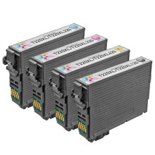 Remanufactured 4 Pack for Epson 220XL: 1 Black, Cyan, Magenta, Yellow