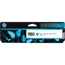 Original HP 980A Cyan Ink Cartridge in Retail Packaging (D8J07A)