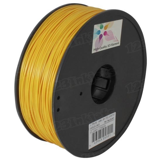 Spool of Gold 1.75mm 1kg ABS Filament