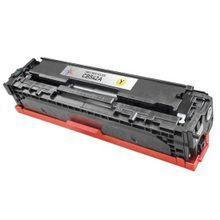 Remanufactured Replacement for HP CB542A (125A) Yellow Laser Toner Cartridge