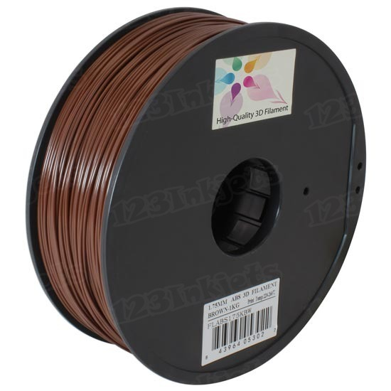 Spool of Brown 1.75mm 1kg ABS Filament