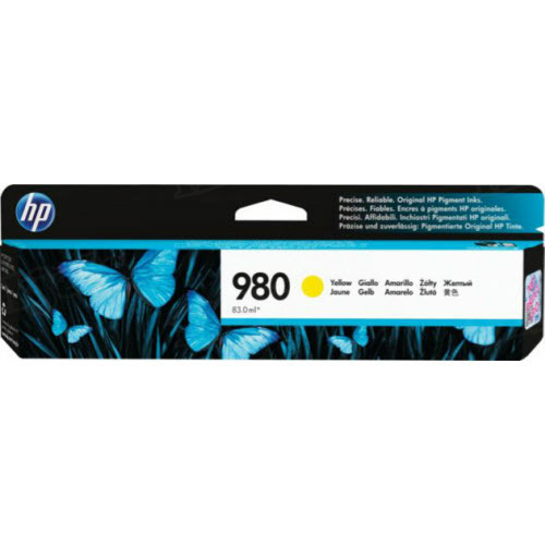 HP 980A Yellow Original Ink Cartridge D8J09A