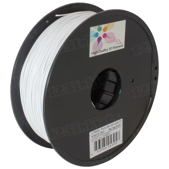 Spool of White 1.75mm 1kg PLA Filament