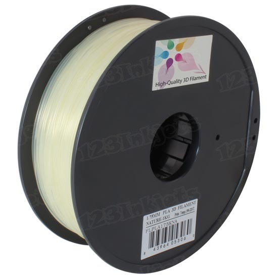 Spool of Natural 1.75mm 1kg PLA Filament