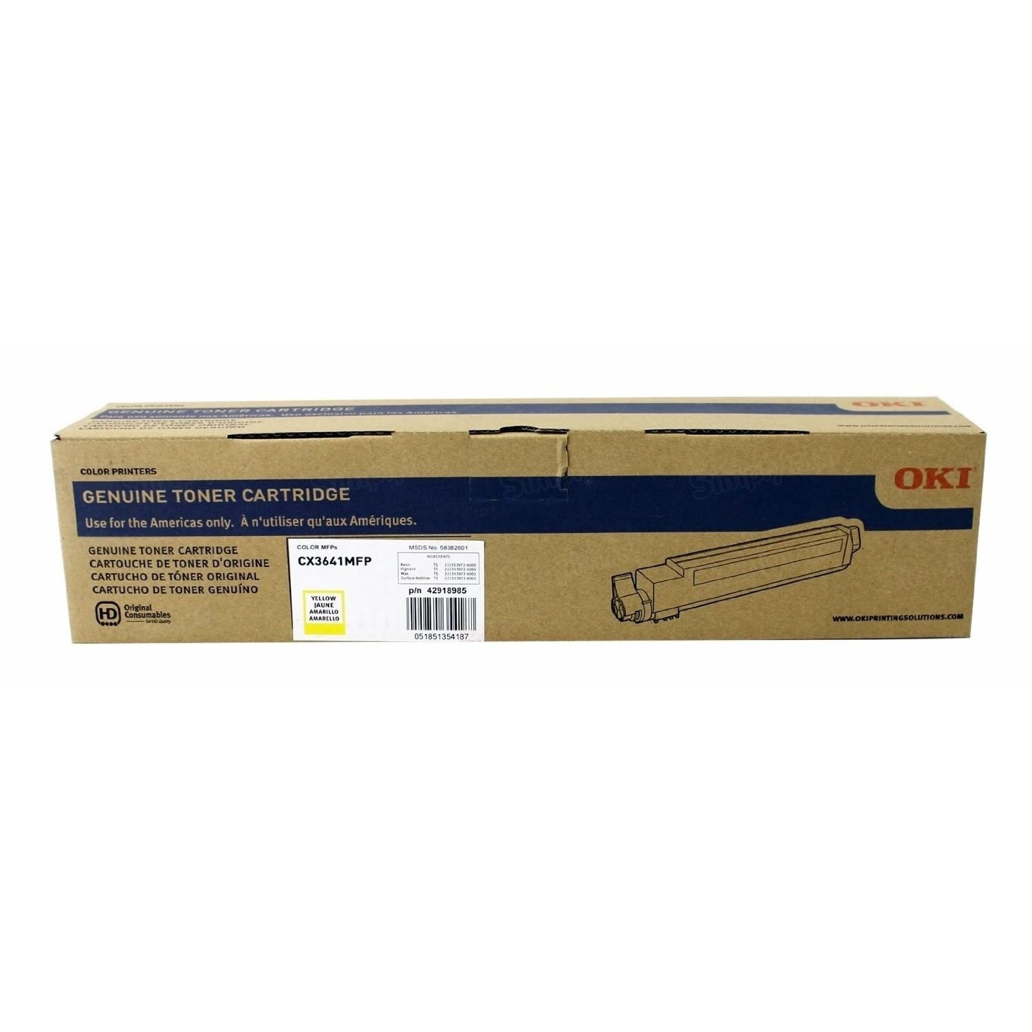 Okidata 42918985 Yellow Toner