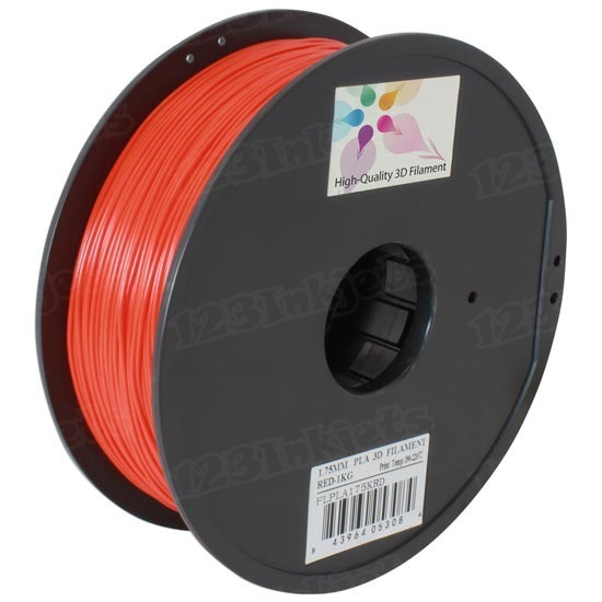 Spool of Red 1.75mm 1kg PLA Filament