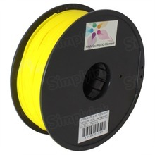 Yellow 3D Printer Filament 1.75mm 1kg PLA