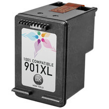 Remanufactured Replacement Ink Cartridge for Hewlett Packard CC654AN (HP 901XL) High-Yield Black