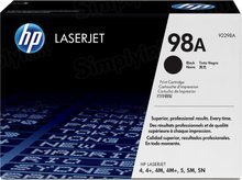 HP 98A (92298A) Black Original Toner Cartridge in Retail Packaging