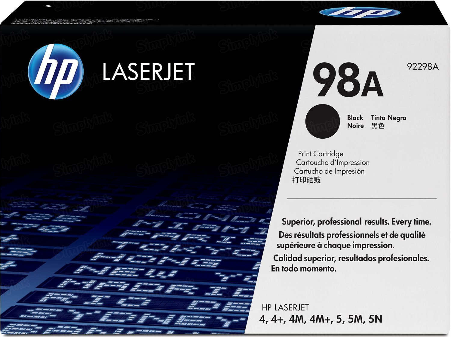 Original HP 92298A (98A) Black Toner