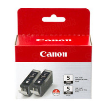 OEM Canon 0628B009 Twin Pack Ink Cartridges PGI-5BK - Black