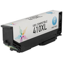 Remanufactured Replacement for Epson T410XL220 (410XL) High Capacity Cyan Ink Cartridge
