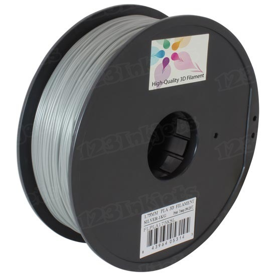 Spool of Silver 1.75mm 1kg PLA Filament