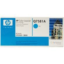 HP 503A (Q7581A) Cyan Original Toner Cartridge in Retail Packaging