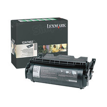 Lexmark OEM High Yield Black Return Program Laser Toner Cartridge, 12A7462 (21K Page Yield)