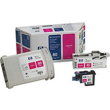 Original HP 80XL Magenta Ink Cartridge, Printhead & Cleaner in Retail Packaging (C4892A) High-Yield