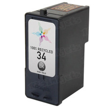 Remanufactured Lexmark 18C0034 (#34) High Yield Black Ink Cartridges