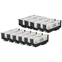 Remanufactured 11 Pack for Epson 410XL: 3 Black & 2 each of Cyan, Magenta, Yellow, Photo Black