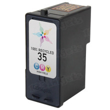 Remanufactured Lexmark 18C0035 (#35) High Yield Color Ink Cartridges