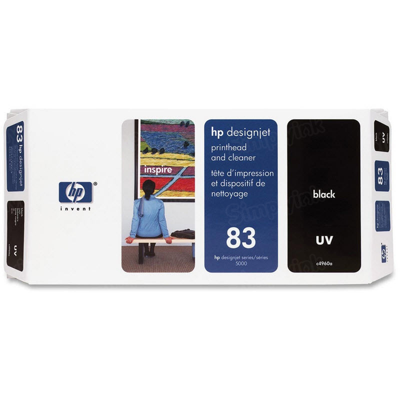 HP 83 Black Original Printhead & Cleaner C4960A