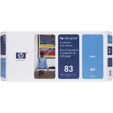 Original HP 83 Cyan Printhead & Cleaner in Retail Packaging (C4961A)