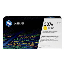 HP 507A (CE402A) Yellow Original Toner Cartridge in Retail Packaging