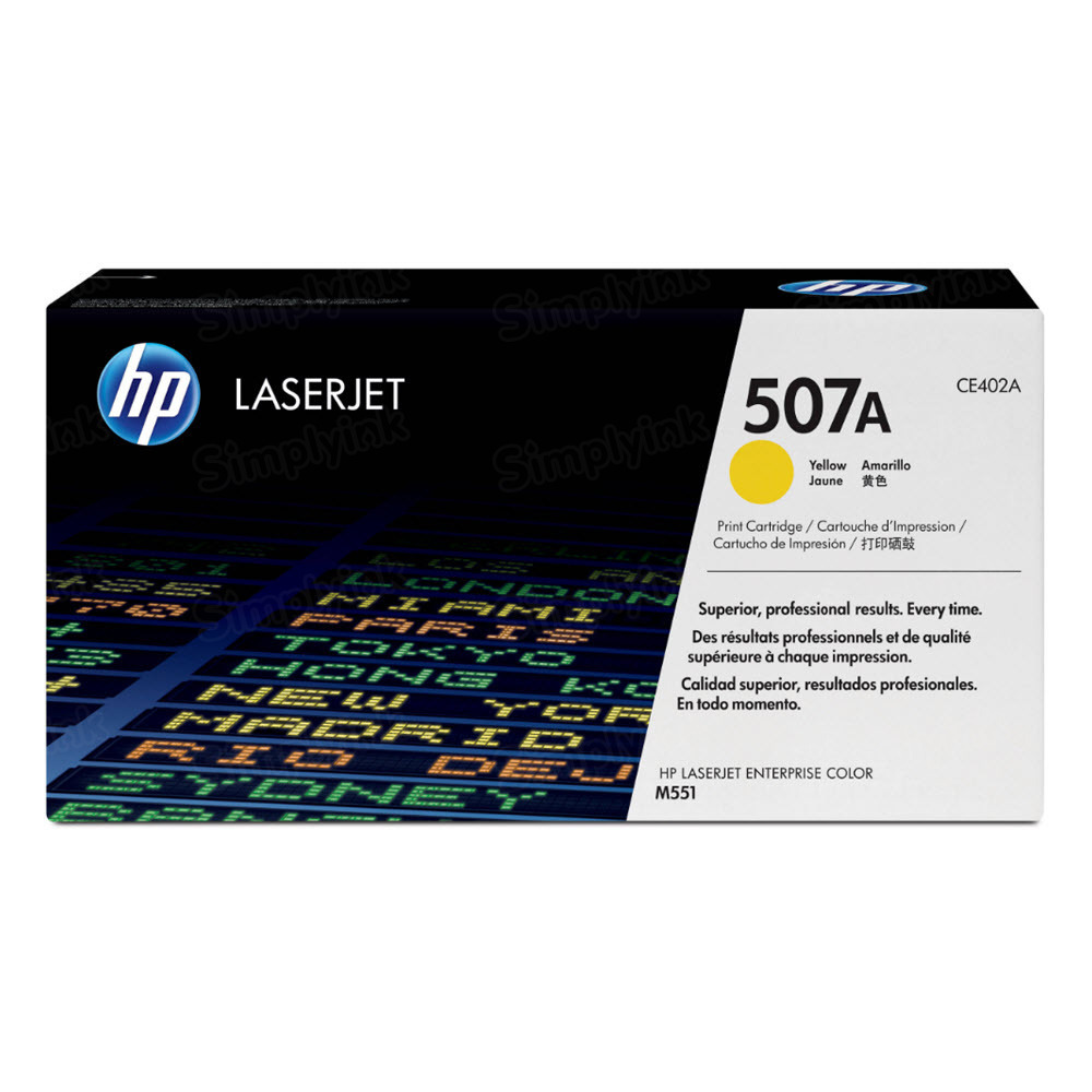Original HP CE402A (507A) Yellow Toner