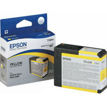 Original Epson T580400 Yellow 80 ml Inkjet Cartridge (T5804)