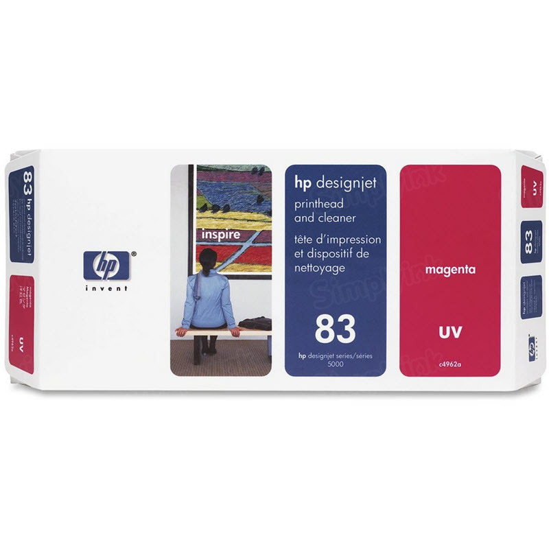 HP 83 Magenta Original Printhead & Cleaner C4962A