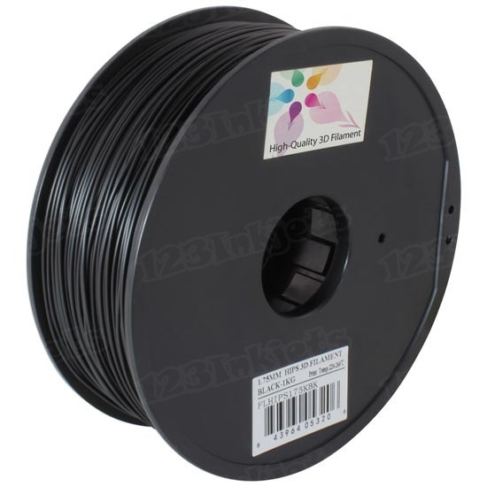 Black 1.75mm 1kg HIPS Filament