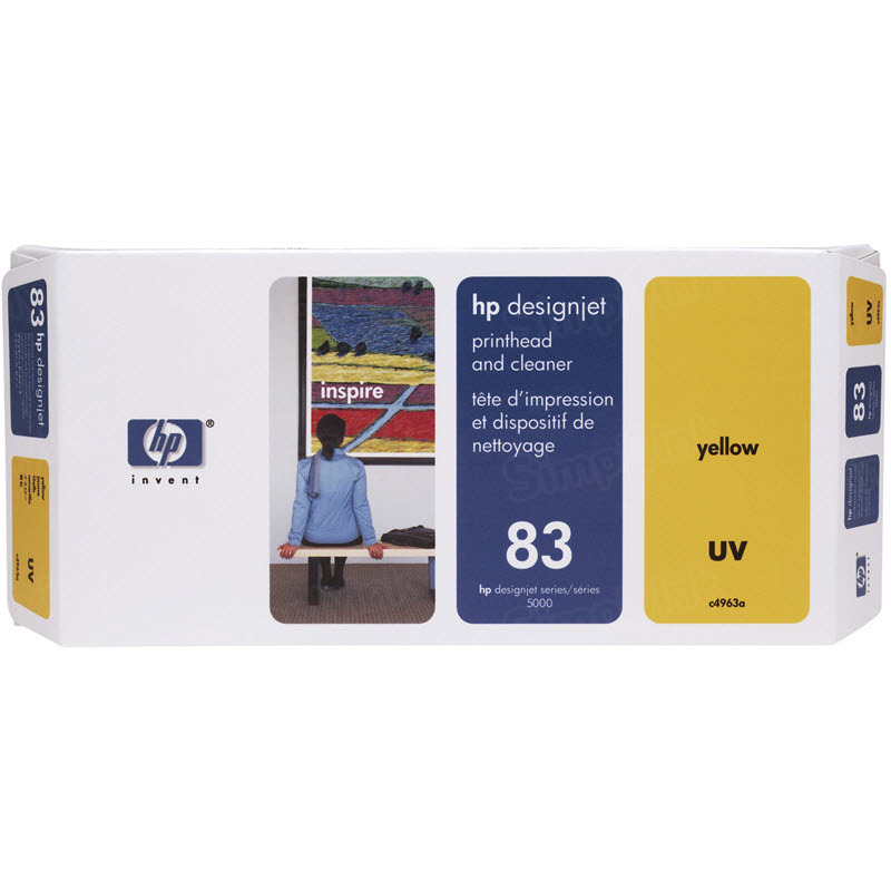 HP 83 Yellow Original Printhead & Cleaner C4963A