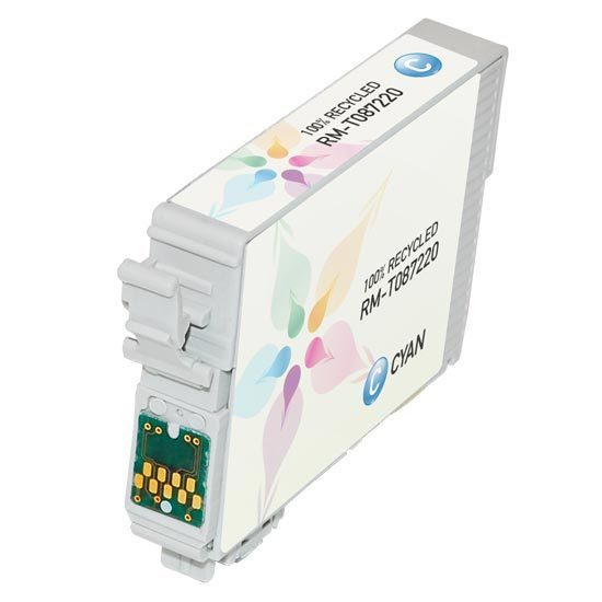Epson Remanufactured T087220 Cyan Inkjet Cartridge