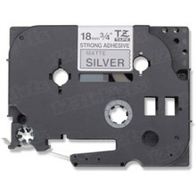 Brother TZeS941 Black on Matte Silver OEM 3/4 Label Tape