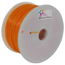 Translucent Orange 3D Printer Filament 1.75mm 1kg PLA