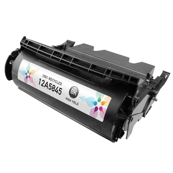 Remanufactured 12A5845 HY Black Toner Cartridge for Lexmark