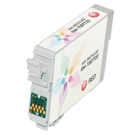 Epson Remanufactured T087720 Red Inkjet Cartridge