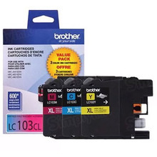 Brother LC1033PKS C/M/Y OEM Ink Cartridges, High-Yield 3 Pack