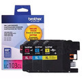 Brother OEM LC1033PKS C/M/Y High-Yield Ink Cartridges, 3 Pack
