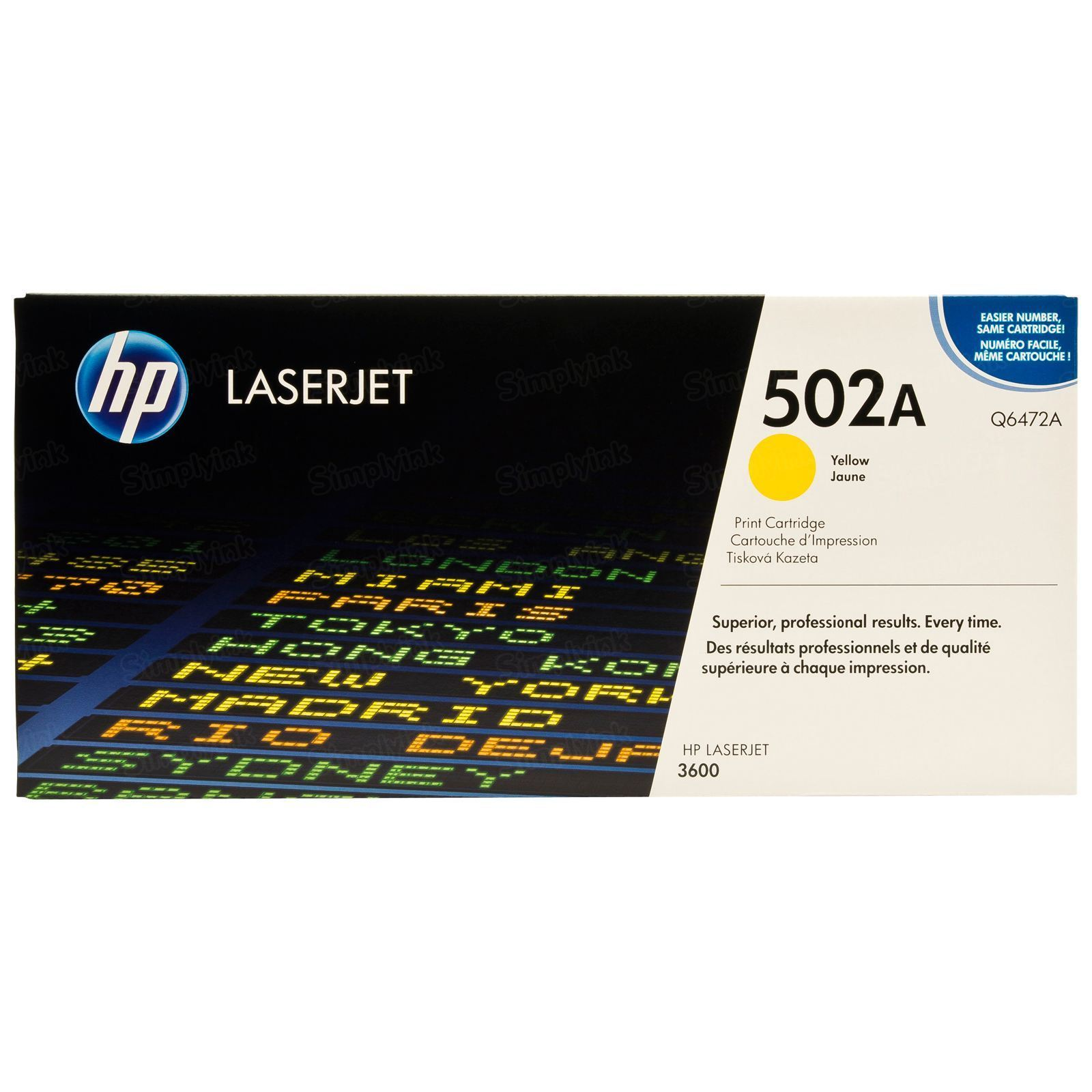 Original HP Q6472A (502A) Yellow Toner