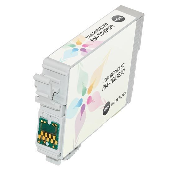 Epson Remanufactured T087820 Matte Black Inkjet Cartridge