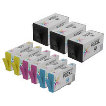 Compatible Brand Replacements for HP 902XL Ink Cartridges: 9-Piece High Yield Bulk Set for HP