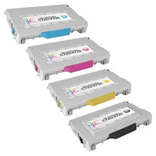 Lexmark Remanufactured (Black, Cyan, Magenta, Yellow) Toner Cartridge Set of 4, C720
