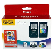 Canon PG-240XL Black / CL-241XL Color High-Yield Ink 2-Pack, 5206B005