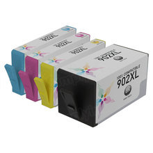 Compatible Brand Replacements for HP 902XL Ink Cartridges: 4-Piece High Yield Set for HP