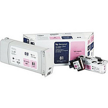Original HP 81 Light Magenta Ink Cartridge, Printhead & Cleaner in Retail Packaging (C4995A) Extra High-Yield