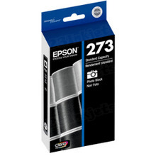 Original Epson 273 Photo Black Inkjet Cartridge (T273120), Standard-Capacity