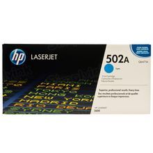 HP 502A (Q6471A) Cyan Original Toner Cartridge in Retail Packaging